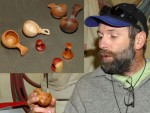 Dave Staeheli with turned scoops & eccentric turnings with magnets