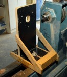 Router jig used to cut Vs in ornament body to accept inlays