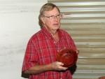 Bob Fahrnbruch with Madrone salad bowl