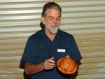 Michael Ingham with carved bottom bowl