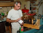 Steve's finishes - Deft brushing laquer, tung oil varnish, Walnut oil - (rt) jig for holding items while finish dries