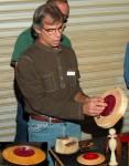 Steve LeBlanc explains jigs to turn lids - flying saucer and space alien series