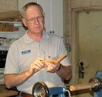 Ron showing diamond construction during demo