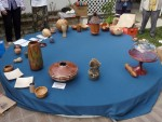 Show and Tell table - Rick Haseman's cake platform got used tonight