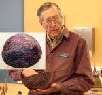 Jim Rinde - Redwood wirebrushed, dyed, epoxy impregnated