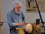 Now reversed on jam chuck - Notice the large tenon used - to include the foot - maximizing wood use