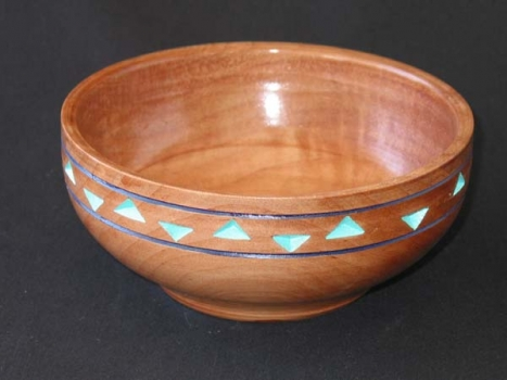 Madrone bowl with teak 2.5