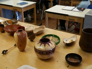 Show and Tell: Ron L.: Juniper vase and spiral finials, John A.: Scarpino pods