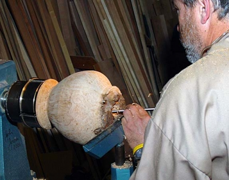 Mike uses a long carbide concrete drill for the depth hole because it clears better than a twist drill.