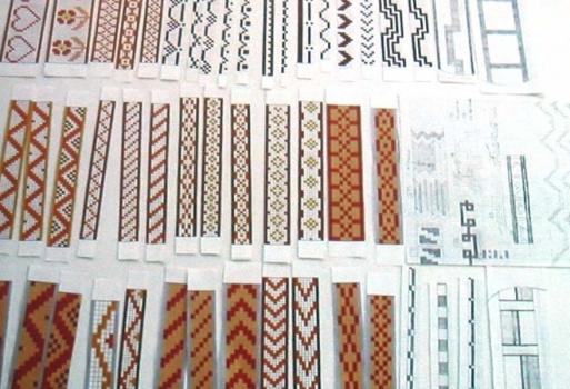 Mosaic strips - various designs.