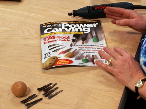 Power carver and bits - Ryobi carver out of production - Fox Chapel publication recommended
