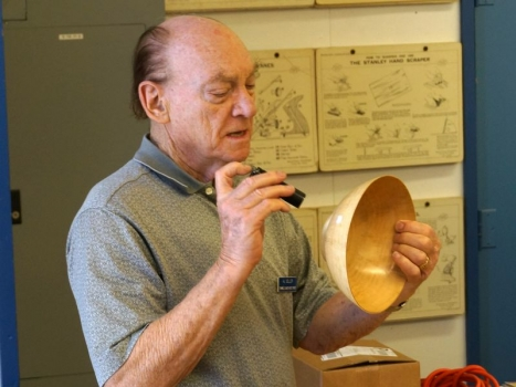 Al G. with ultra thin Norfolk Island Pine bowl