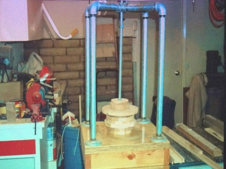 Shop-built press - pipe and all-thread