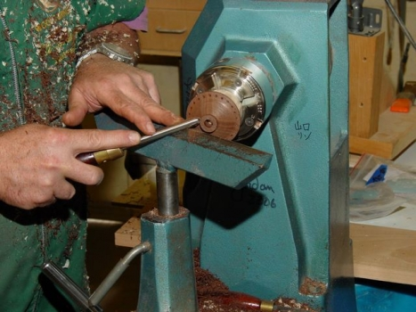 Tailstock jig is removed to get in close