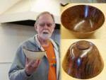 Sam T. filled cracks in thin bowl with black epoxy