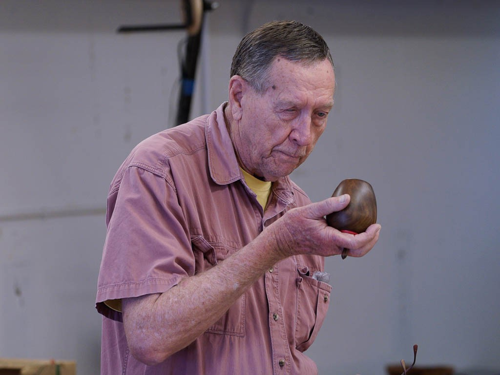 Jim R. with roasted Jacaranda lidded box with top top