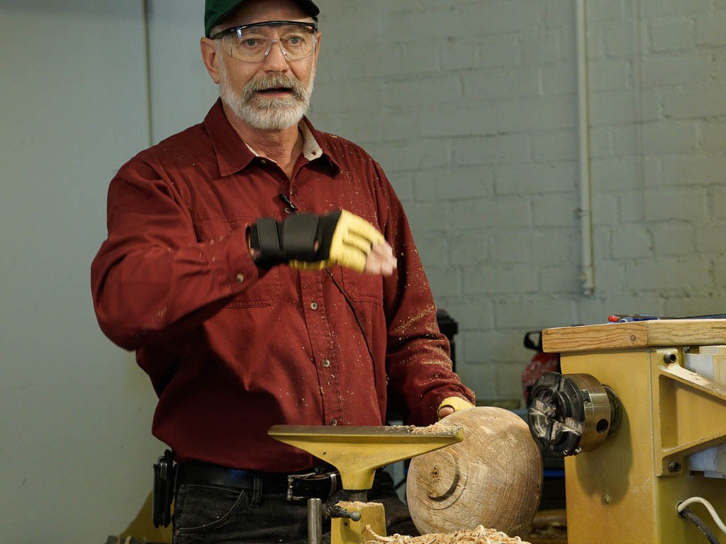 Showing the tenon and bowl base at one third of diameter