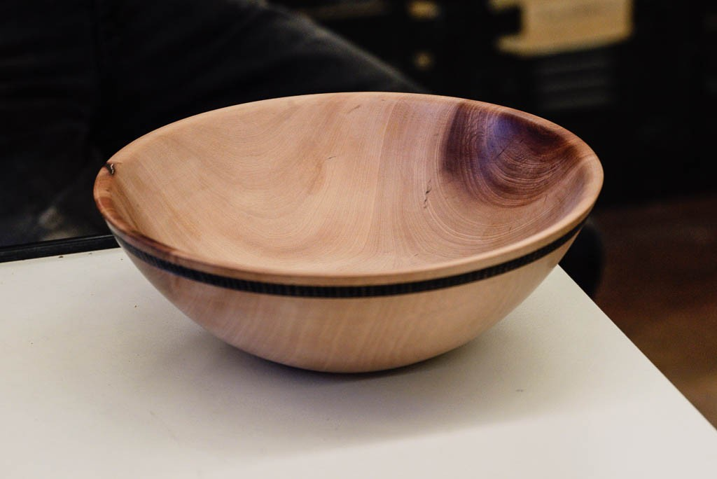 Completed bowl left for  club raffle.  Surface extremely smooth - 600 grit or finer