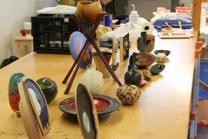 Fleming Demo: Examples using color on woodturnings