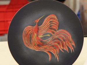 Plate with the Phoenix pattern