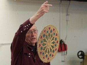 Jim R. with Rose Window in epoxy