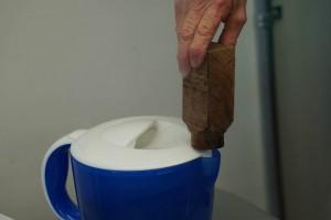 After top surface cut off, tea kettle steamer
