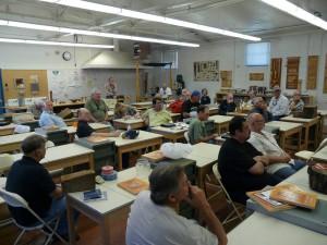 Discussing Springett demo preparations
