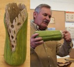 John A. with another great carving - Cactus form