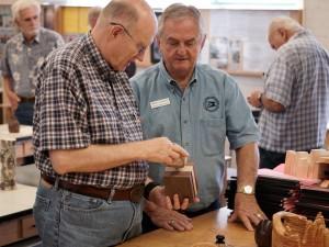 David explains the technique to Arnie J.