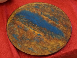 Front of Chris's plate - unpolished resin