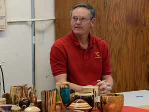 Our guest demonstrator Tom Edwards from the San Diego Woodturners