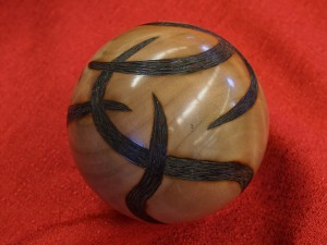 Pyrography can mask cracks and voids