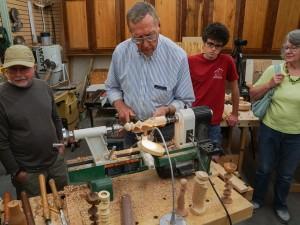 Jim R. demonstating multi-axis turning