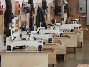 Five new Jet mini lathes for Cabrillo shop - David F. led team to install.