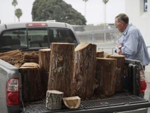 Lee R. brought big load of Redwood