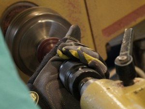 """Drilling the 1/4"""" hole with drill in Jacobs chuck"""