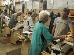 Sally had five students for the Sunday workshop